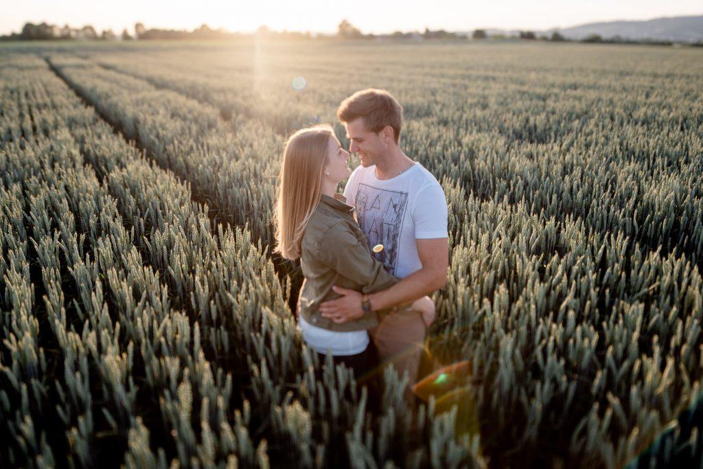 Sabine & Markus couple Shoot in Pasching bei Sonnenuntergang